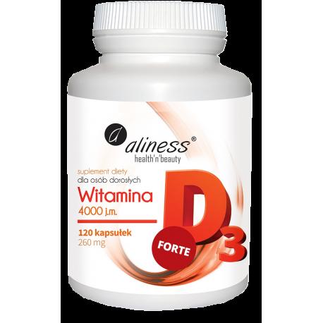 Aliness - Witamina D3 Forte 4000 j.m. - 120kaps