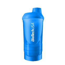 BioTech Usa - Shaker Wave++ 600ml - Blue