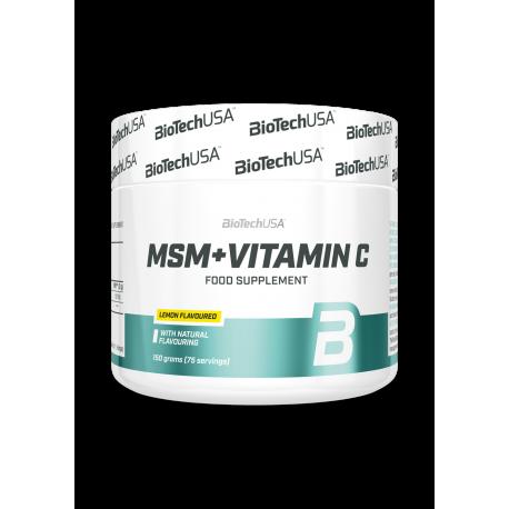 BioTech Usa - MSM + Vitamin C - 150g