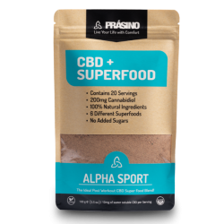 Prasino Alpha Sport CBD + SuperFood 200mg | 100g