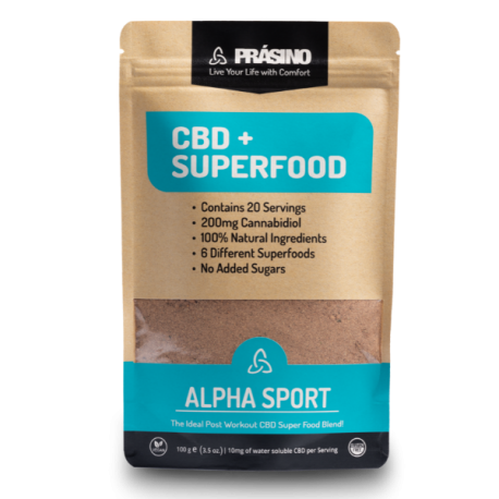 Prasino Alpha Sport CBD + SuperFood 200mg | 100g