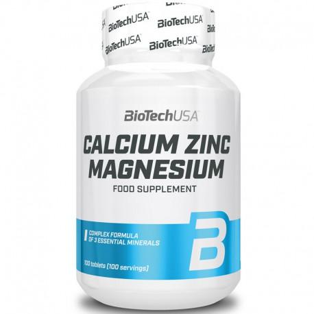 BioTech USA   Calcium Zinc Magnesium   Wapń Cynk Magnez   100tabs