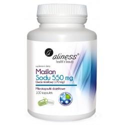 Aliness | Maślan Sodu 550mg | 100kaps VEGE