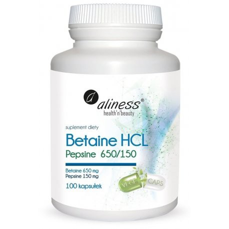 Aliness - Betaina HCL Pepsyna 650/150 - 100kaps