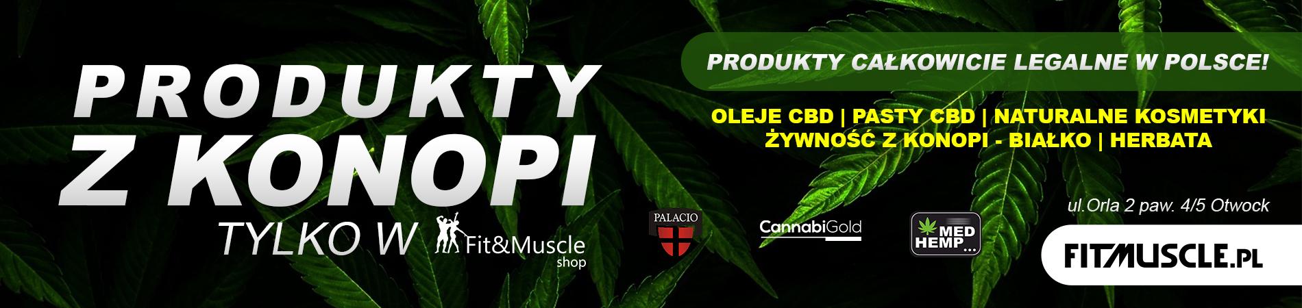 Produkty z konopi - fitmuscle.pl